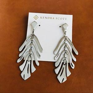 Kendra Scott Luca silver statement earrings